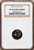 Proof Roosevelt Dimes, 2007-S 10C Clad PR70 Ultra Cameo NGC. NGC Census: (0). PCGSPopulation (269). Numismedia Wsl. Price for problem free NGC/P...