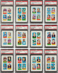Football Cards:Sets, 1969 Topps Football Four In One Near Set (63/66) - #3 on the PSA Set Registry. ...
