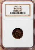 Proof Indian Cents, 1867 1C PR66 Red and Brown NGC....
