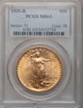 Saint-Gaudens Double Eagles, 1925-D $20 MS63 PCGS....