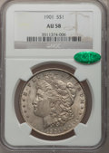 Morgan Dollars, 1901 $1 AU58 NGC. CAC....