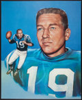 Football Collectibles:Photos, Johnny Unitas Signed Oversized Print....