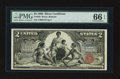 Large Size:Silver Certificates, Fr. 248 $2 1896 Silver Certificate PMG Gem Uncirculated 66 EPQ.....