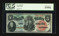 Large Size:Legal Tender Notes, Fr. 64 $5 1869 Legal Tender PCGS Superb Gem New 67PPQ.. ...