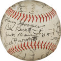 Autographs:Baseballs, Late 1930's Hall of Famers Signed Baseball with Alexander, Nichols....