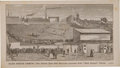 """Baseball Cards:Singles (Pre-1930), 1876 Washburn & Moen """"Barb Fence Armor"""" Trade Card featuring the Boston Base Ball Grounds. ..."""