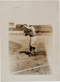 Baseball Collectibles:Photos, 1922 Babe Ruth Photograph by Bain....