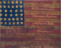 Military & Patriotic:Civil War, Silk Headquarters Flag of the 8th New Jersey Volunteer Infantry...