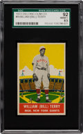 Baseball Cards:Singles (1930-1939), 1933 Delong Bill Terry #4 SGC 92 NM/MT+ 8.5 - Pop One with NoneHigher! ...