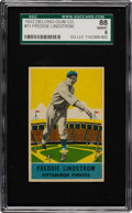 Baseball Cards:Singles (1930-1939), 1933 Delong Freddie Lindstrom #11 SGC 88 NM/MT 8 - Pop One withNone Higher! ...