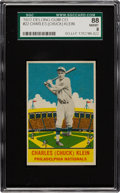 Baseball Cards:Singles (1930-1939), 1933 Delong Chuck Klein #22 SGC 88 NM/MT 8 - Pop One with NoneHigher! ...