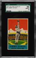 Baseball Cards:Singles (1930-1939), 1933 Delong Jimmy Dykes #18 SGC 88 NM/MT 8 - Pop One with NoneHigher! ...