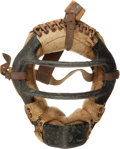 Baseball Collectibles:Uniforms, 1950's Yogi Berra Game Worn Catcher's Mask with Berra Letter....