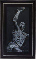 Basketball Collectibles:Others, Circa 2000 Michael Jordan Signed Print by Stephen Holland....