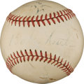 Autographs:Baseballs, Late 1940's Babe Ruth, Cy Young, Ty Cobb & Tris Speaker Signed Baseball....