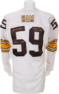Football Collectibles:Uniforms, 1980 Jack Ham Game Worn, Signed Pittsburgh Steelers Jersey....