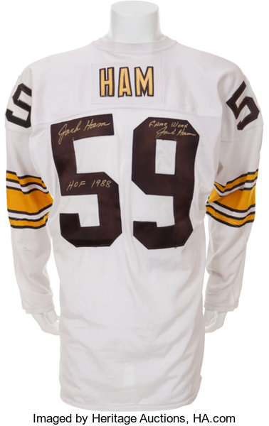 new arrival d92e8 37228 1980 Jack Ham Game Worn, Signed Pittsburgh Steelers Jersey ...