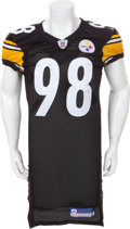 Football Collectibles:Uniforms, 2006 Casey Hampton Game Worn Pittsburgh Steelers Jersey....