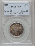 Barber Quarters: , 1899 25C MS66 PCGS. PCGS Population (13/1). NGC Census: (7/1).Mintage: 12,624,846. Numismedia Wsl. Price for problem free ...