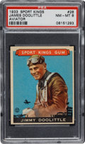 "Baseball Cards:Singles (1930-1939), 1933 Goudey ""Sport Kings"" James Doolittle #28 PSA NM-MT 8...."