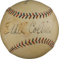 Autographs:Baseballs, Late 1920's Eddie Collins Signed Baseball....