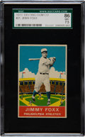 Baseball Cards:Singles (1930-1939), 1933 Delong Jimmy Foxx #21 SGC 86 NM+ 7.5 - Pop One with NoneHigher! ...