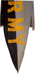 Football Collectibles:Others, 1960's Army Black Knights Flag Flown Over Notre Dame Stadium....