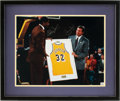Basketball Collectibles:Photos, Circa 2000 Magic Johnson & Jerry West Signed LargePhotograph....