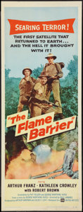 "Movie Posters:Adventure, The Flame Barrier (United Artists, 1958). Insert (14"" X 36"").Adventure.. ..."