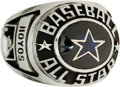 Baseball Collectibles:Others, 1980 All-Star Game Ring Presented to Dodgers Radio Broadcaster....