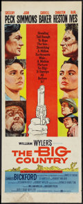 """Movie Posters:Western, The Big Country (United Artists, 1958). Insert (14"""" X 36""""). Western.. ..."""