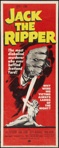 "Movie Posters:Mystery, Jack the Ripper (Paramount, 1960). Insert (14"" X 36""). Mystery....."