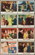 """Movie Posters:Drama, Man on Fire (MGM, 1957). Lobby Card Set of 8 (11"""" X 14""""). Drama.. ... (Total: 8 Items)"""