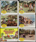 "Movie Posters:Adventure, Swiss Family Robinson (Buena Vista, 1960). Title Lobby Card &Lobby Cards (5) (11"" X 14"") & One Sheet (27"" X 41"").Adventure... (Total: 7 Items)"