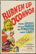 "Movie Posters:Action, Burn 'Em Up O'Connor (MGM, 1939). One Sheet (27"" X 41""). Action....."