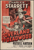 "Movie Posters:Western, Overland to Deadwood (Columbia, R-1955). One Sheet (27"" X 39.5""). Western.. ..."