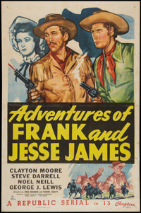 """Adventures of Frank and Jesse James (Republic, 1948). One Sheet (27"""" X 41""""). Serial"""