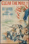 """Movie Posters:War, World War I Fourth Liberty Loan (U.S. Government, 1918). HowardChandler Christy Poster (20"""" X 30""""). """"Clear The Way, Buy Bon..."""