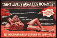 """From Here to Eternity (Columbia, 1953). French Petite (12.75"""" X 18.5""""). Academy Award Winners"""
