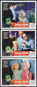 """Movie Posters:Horror, Queen of Blood (American International, 1966). Lobby Cards (3) (11""""X 14""""). Horror.. ... (Total: 3 Items)"""