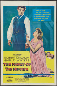 """The Night of the Hunter (United Artists, 1955). One Sheet (27"""" X 41""""). Film Noir"""