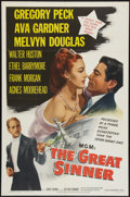 "Movie Posters:Drama, The Great Sinner (MGM, 1949). One Sheet (27"" X 41""). Drama.. ..."