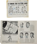 Basketball Collectibles:Others, 1961 NBA All-Stars Signed Photographic Display....