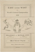Baseball Collectibles:Programs, 1924 World's Colored Championship Official Program, 1st NegroLeague World Series....