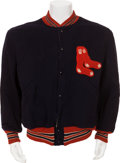 Baseball Collectibles:Uniforms, 1940's-50's Boston Red Sox Game Worn Warm-up Jacket....