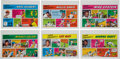 Baseball Cards:Lots, Rare 1973 Topps Test Comics Collection (6). ...