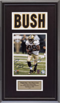 Football Collectibles:Uniforms, 2006 Reggie Bush First NFL Home Game Used, Signed New Orleans Saints Jersey Nameplate Display. ...