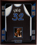Basketball Collectibles:Uniforms, 1995-96 Shaquille O'Neal Game Worn Orlando Magic Framed Jersey. ...