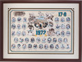 Football Collectibles:Photos, 1972 Miami Dolphins Team Signed Print - Undefeated World Championship Season! ...
