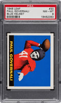 Football Cards:Singles (Pre-1950), 1948 Leaf Paul Governali #30 PSA NM-MT 8 - Pop One with NoneHigher! ...